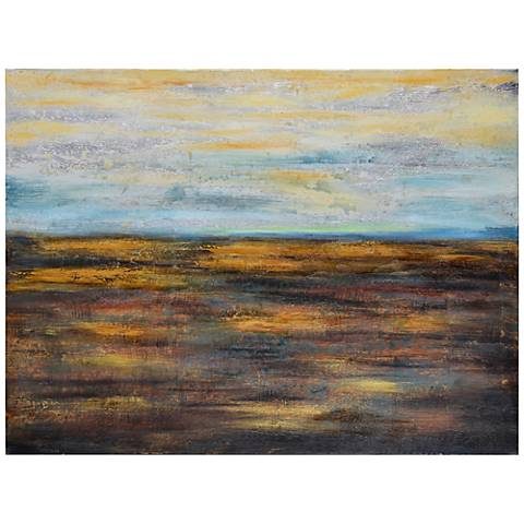 """Cooper Classics Open Spaces 48"""" Wide Abstract Wall Art"""