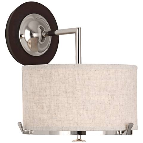 "Robert Abbey Edwin 12 1/2"" High Polished Nickel Wall Sconce"