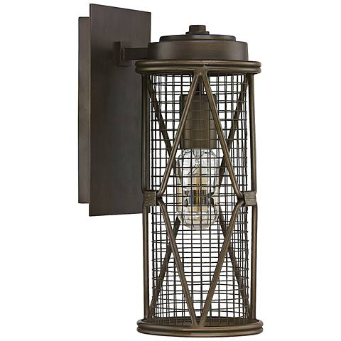 "Capital Jackson 13 1/4"" H Oiled Bronze Cage Wall Sconce"