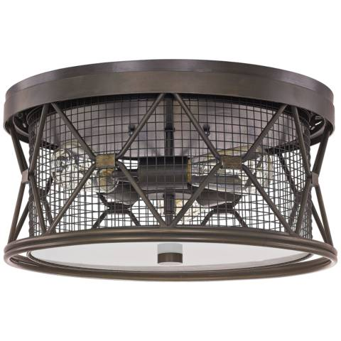 Capital Jackson 15 3 4 Quot W Oiled Bronze Cage Ceiling Light