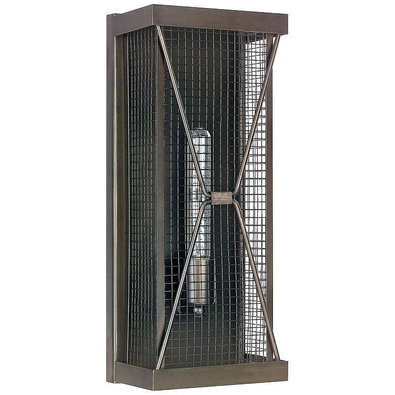 """Capital Jackson 17 3/4"""" High Bronze Cage Tall Wall Sconce"""