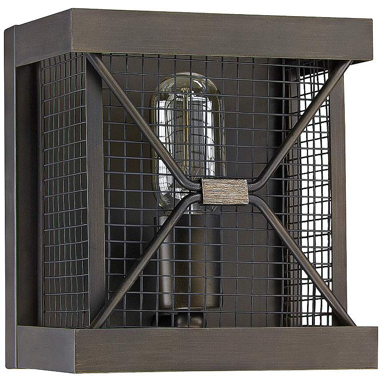 """Capital Jackson 8""""H Oiled Bronze Cage Square Wall"""