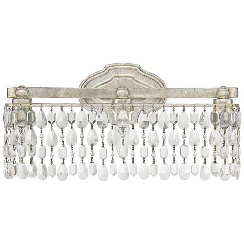 Capital Blakely W Crystal Drape Silver Bath Light J - Silver bathroom light fixtures