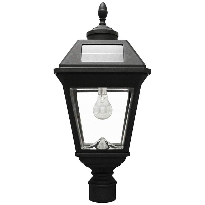 "Imperial Acorn Black 22 1/2""H Post-Mount LED Solar"