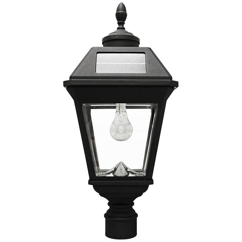 """Imperial Acorn Black 22 1/2""""H Post-Mount LED Solar Light"""