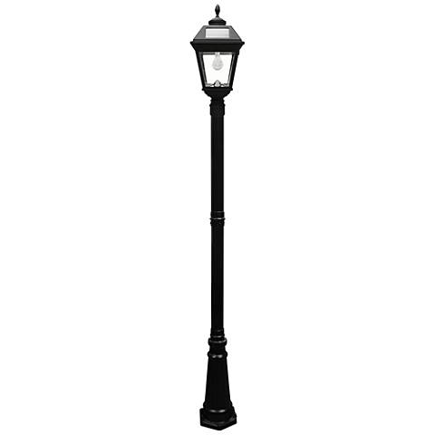 "Imperial Acorn Black 97""H LED Solar Light with Lamp Post"