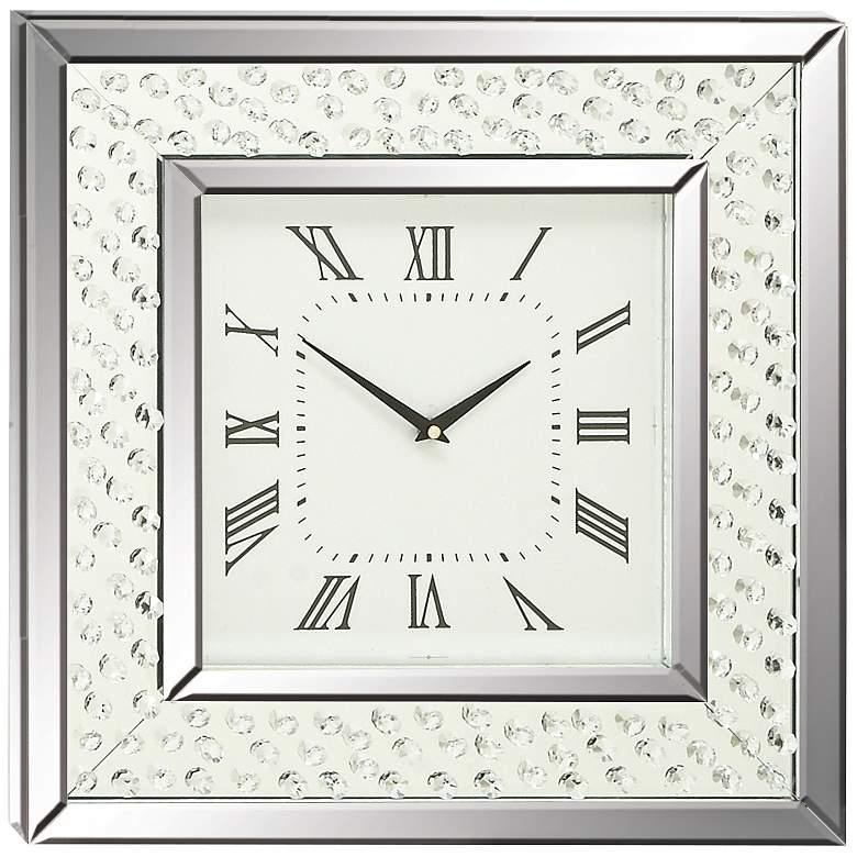 "Cielo Mirrored 20"" Square Wall Clock"
