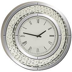 "Cielo Mirrored 20"" Round Wall Clock"