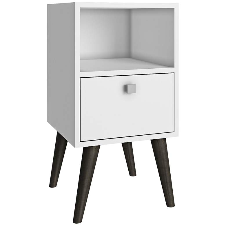 "Abisko 13 3/4"" Wide White Finish Modern Side"