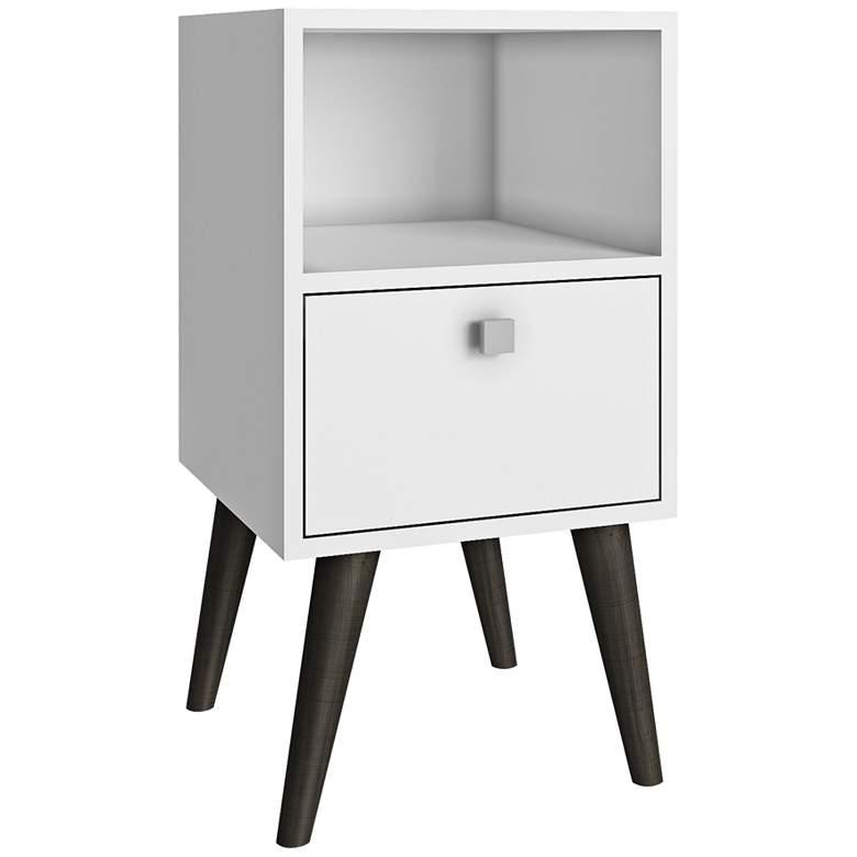"Abisko 13 3/4"" Wide White Finish Modern Side Table"