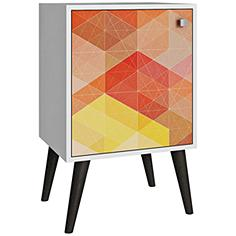 Avesta 1-Door Multi-Color and Gray Feet Side Table