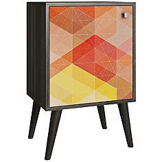"""Avesta 17 1/2"""" Wide Multi-Color Oak Legs Modern Side Table"""