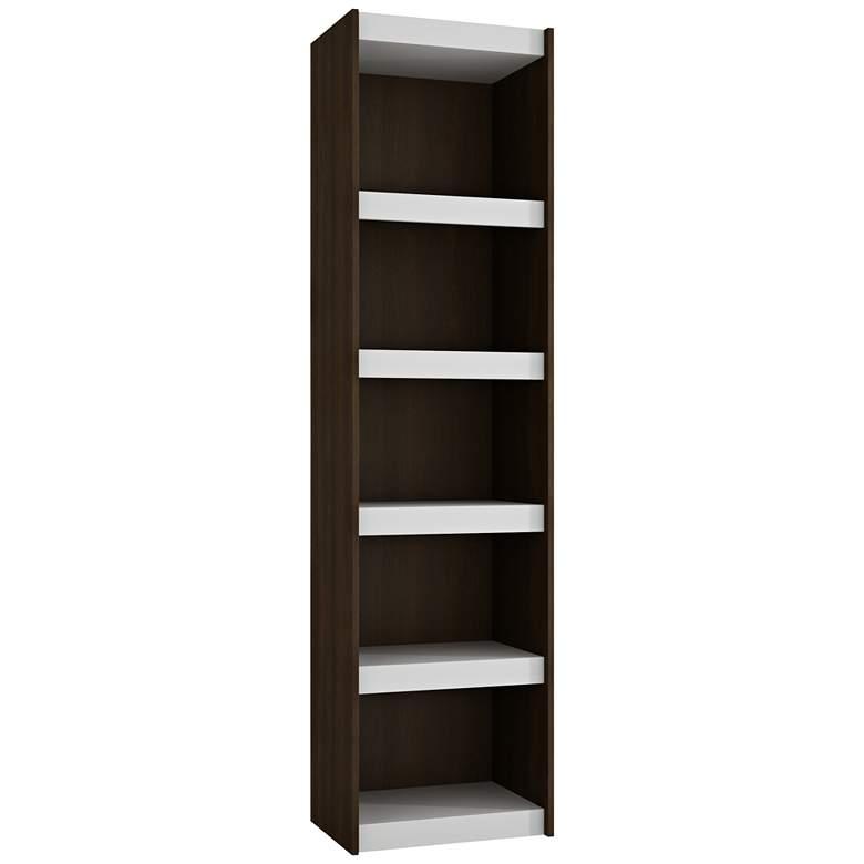 "Parana 71 3/4"" High 5-Shelf White and Tobacco Wood Bookcase"