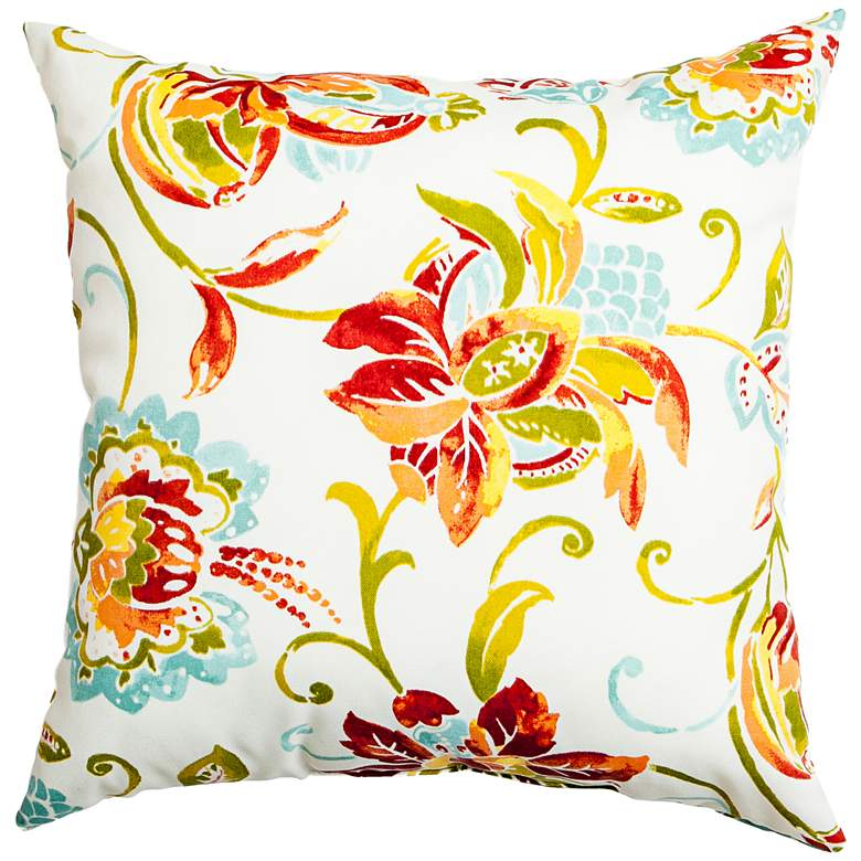 "Jubilee Multi-Color 18"" Square Indoor-Outdoor Pillow"