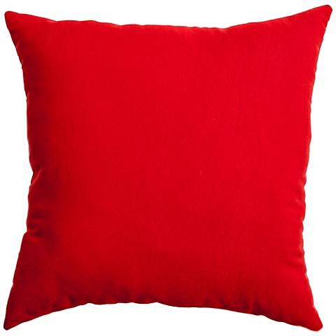 """Revere Bright Red 18"""" Square Indoor-Outdoor Pillow"""
