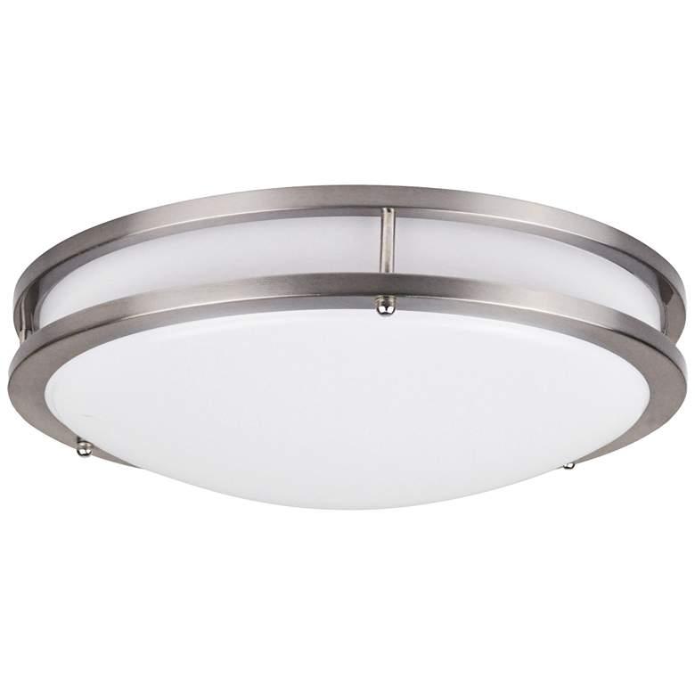 "Effie 16"" Wide Nickel Round LED Ceiling Light"