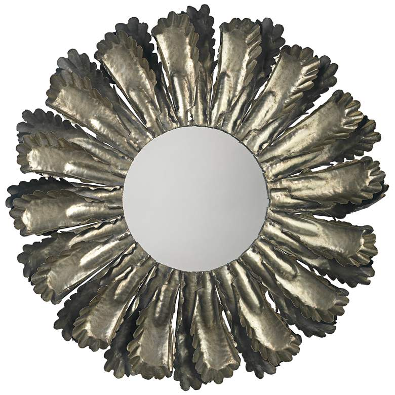"Jamie Young Harvest Antique Silver 35"" Round Wall"