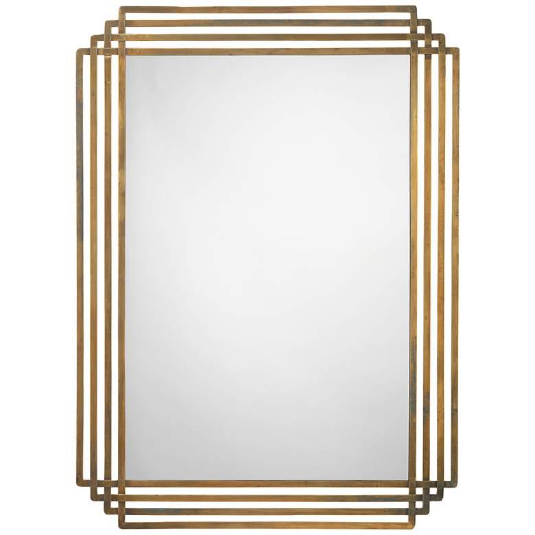 "Jamie Young Serai Antique Brass 32"" x 44"" Wall Mirror"
