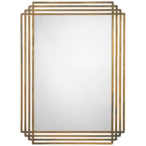 "Jamie Young Serai Brass 32"" x 44"" Wall Mirror"