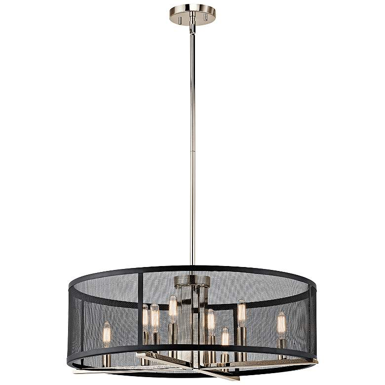 "Kichler Titus 25"" Wide Polished Nickel Pendant Light"
