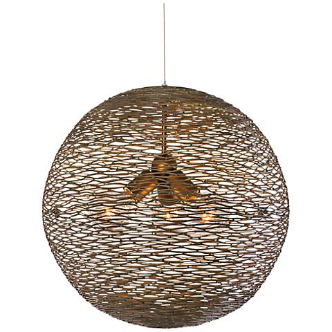 "Varaluz Flow 18"" Wide Hammered Ore Orb Pendant Light"