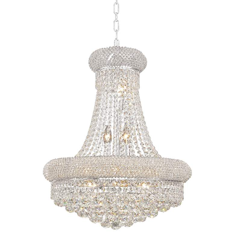 """Primo 20"""" Wide Chrome Crystal Chandelier"""