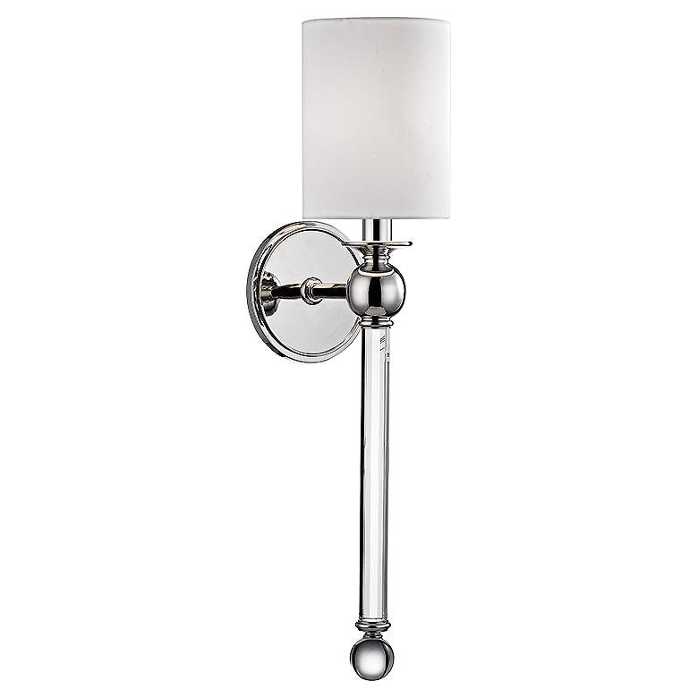 "Hudson Valley Gordon 22 1/4""H Polished Nickel Wall Sconce"