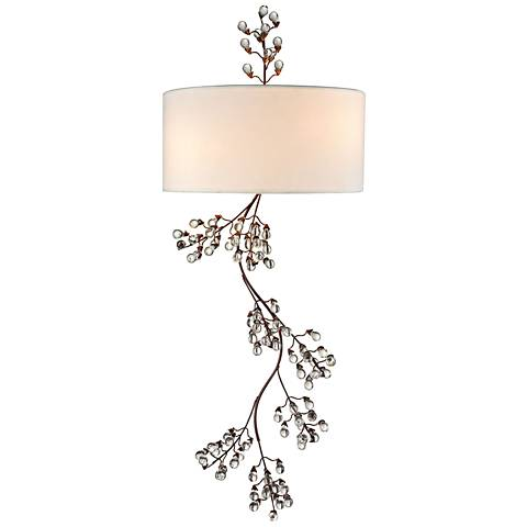 "Winterberry 36"" High Antique Darkwood 2-Light Wall Sconce"