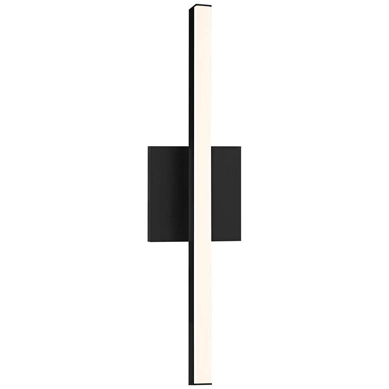 "Sonneman Stix 17 1/4"" High Satin Black LED Wall Sconce"