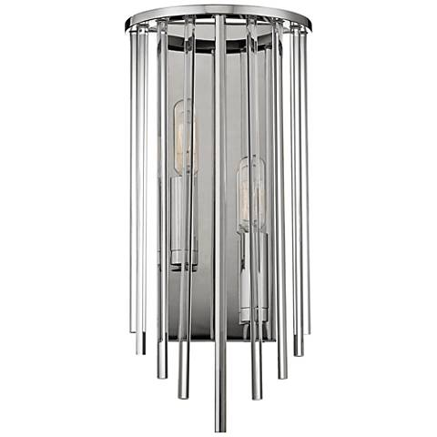 "Hudson Valley Lewis 15"" High Polished Nickel Wall Sconce"