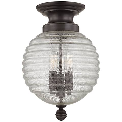 "Hudson Valley Coolidge 10"" Wide Old Bronze Ceiling Light"