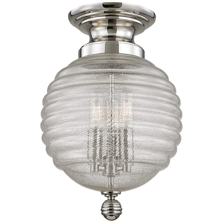 "Hudson Valley Coolidge 10""W Polished Nickel Ceiling Light"