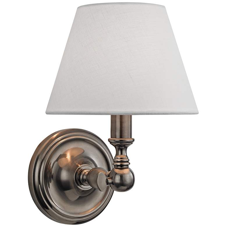 "Hudson Valley Sidney 9 3/4"" High Historic Nickel Wall Sconce"