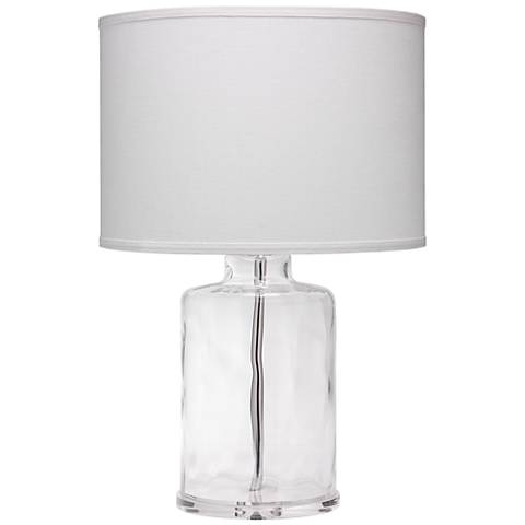 Jamie Young Napa Clear Hammered Glass Jug Table Lamp