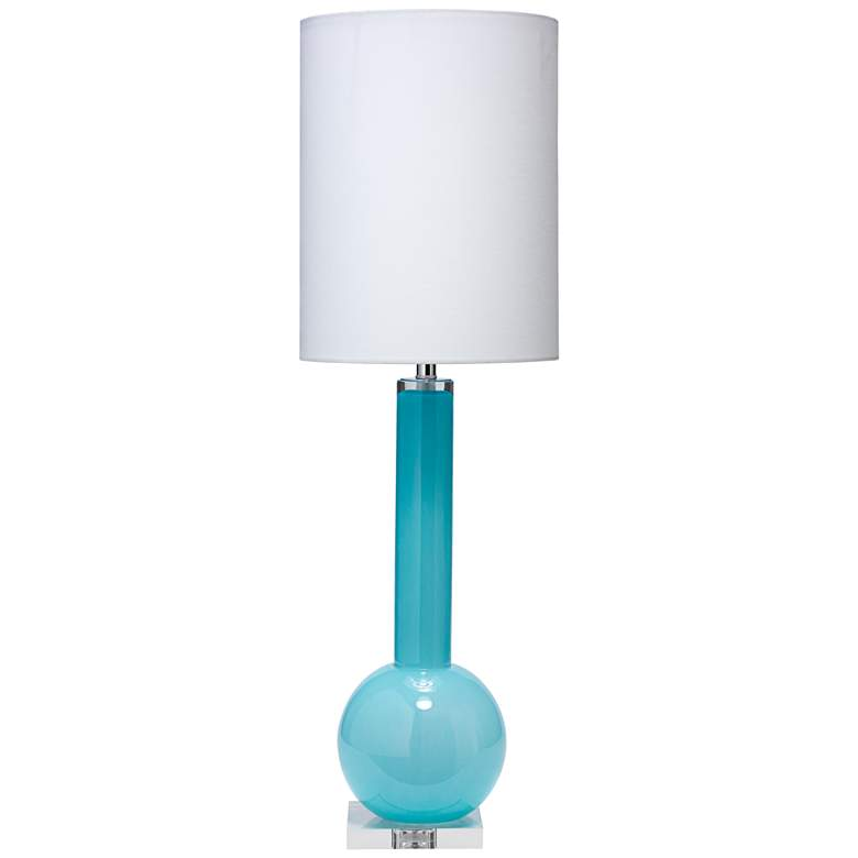 Jamie Young Studio Breeze Blue Glass Tall Vase