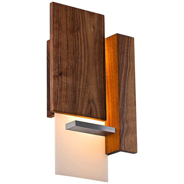 "Vesper 15"" High Oiled Walnut LED Wall Sconce"