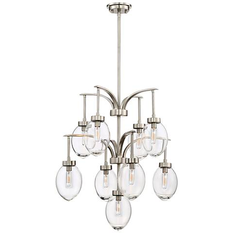 "Savoy House Ravenia 26""W Satin Nickel 9-Light Chandelier"