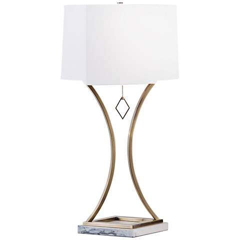 Nova Jubilee Weathered Brass Steel Table Lamp