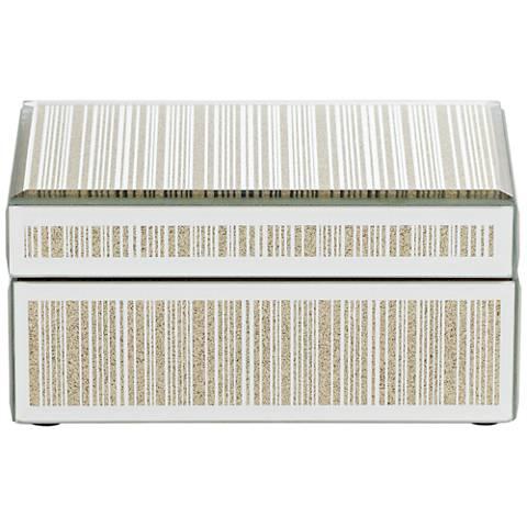 Mathieu Gold Small Mirrored Decorative Box