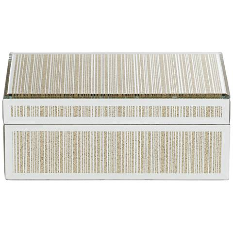 Mathieu Gold Large Mirrored Decorative Box