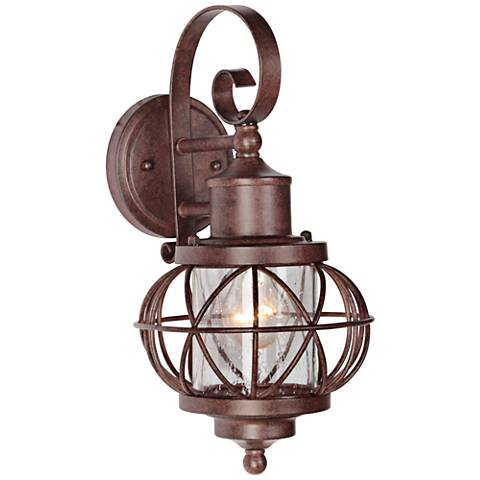 "Revere 14 1/2""H Aged Bronze Outdoor Wall Light"