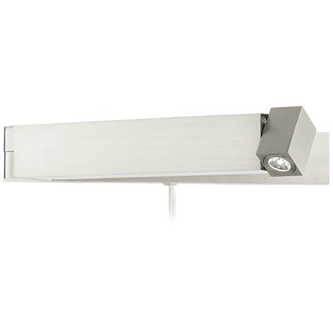 Selman Brushed Steel Plug-In LED Swing Arm Wall Lamp