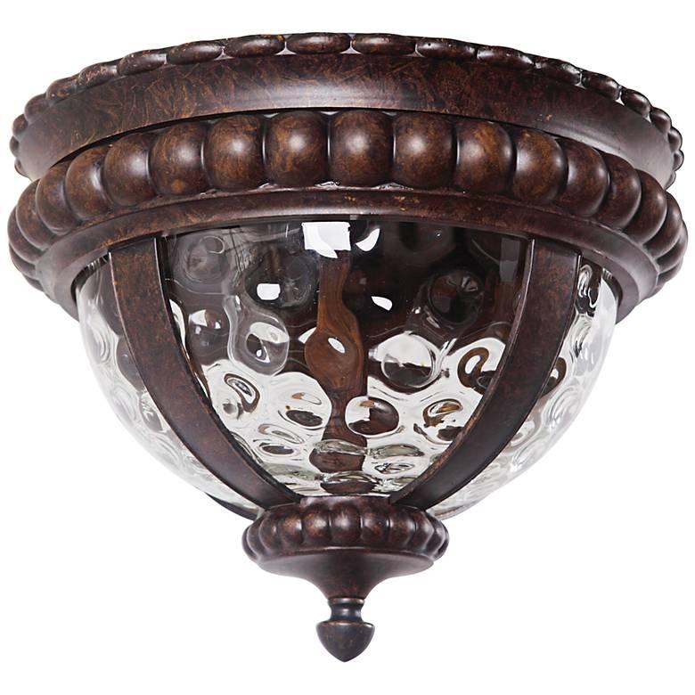 """Prescott 14"""" Wide Bronze Outdoor Ceiling Light"""