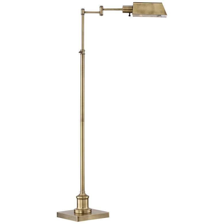 Jenson Aged Brass Pharmacy Floor Lamp