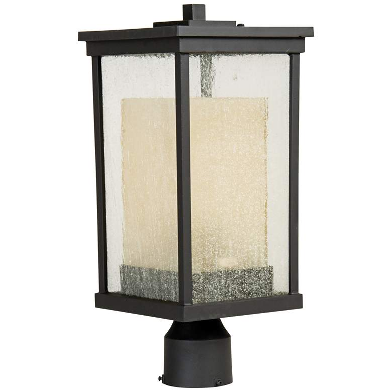 "Riviera 18""H Oil Bronze Outdoor Post Light"