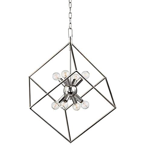 "Hudson Valley Roundout 23""W Polished Nickel Pendant Light"