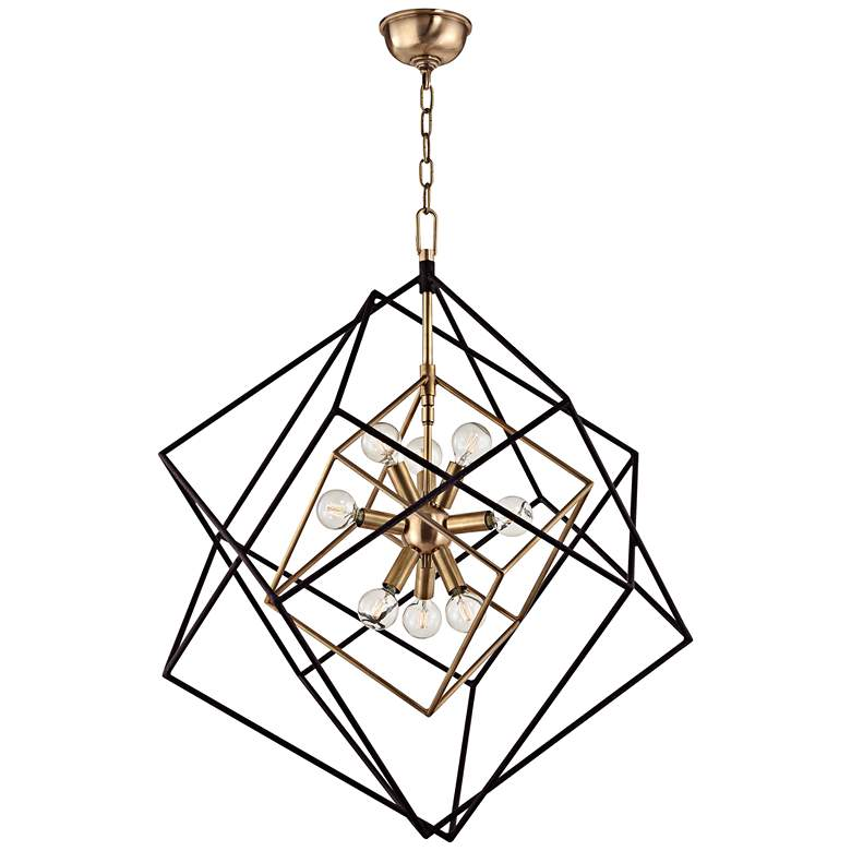 "Hudson Valley Roundout 26"" Wide Brass Finish Pendant Light"