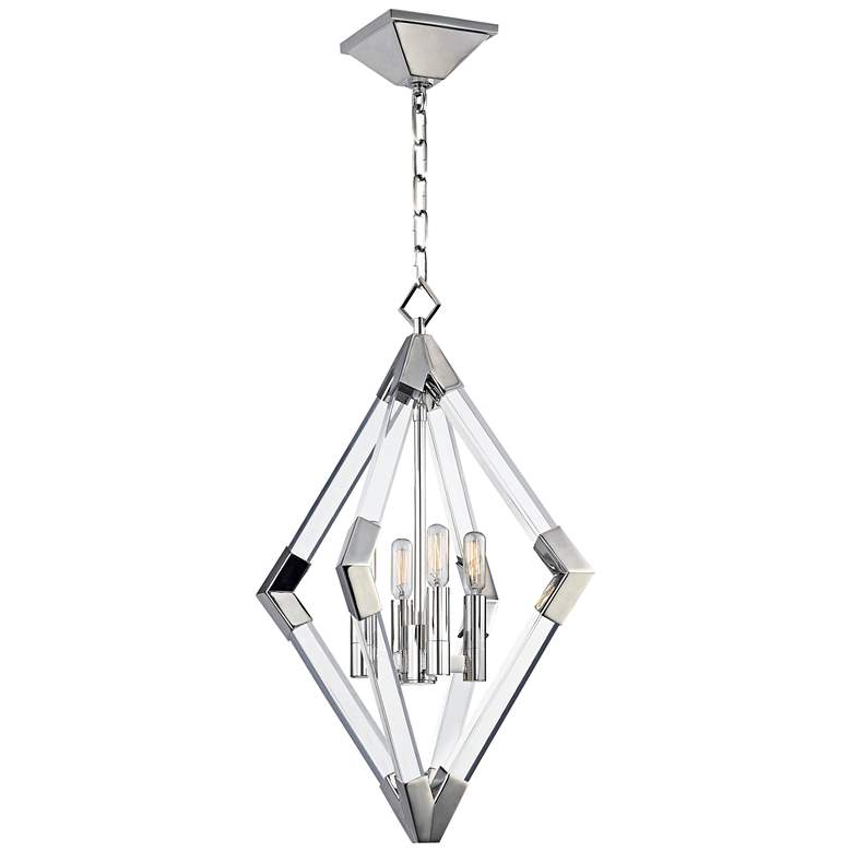 "Hudson Valley Lyons 17 1/4""W Polished Nickel Pendant Light"