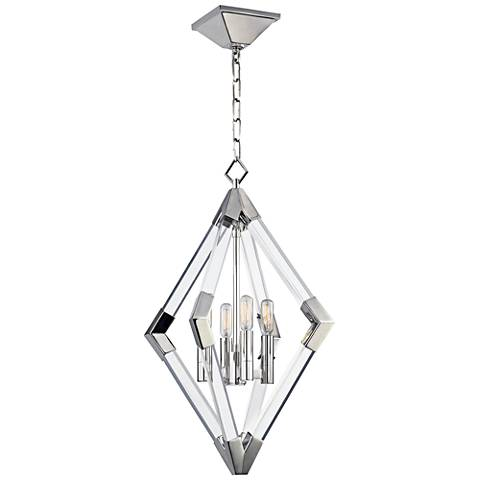 "Hudson Valley Lyons 17 1/4""W Polished Nickel Pendant Light"