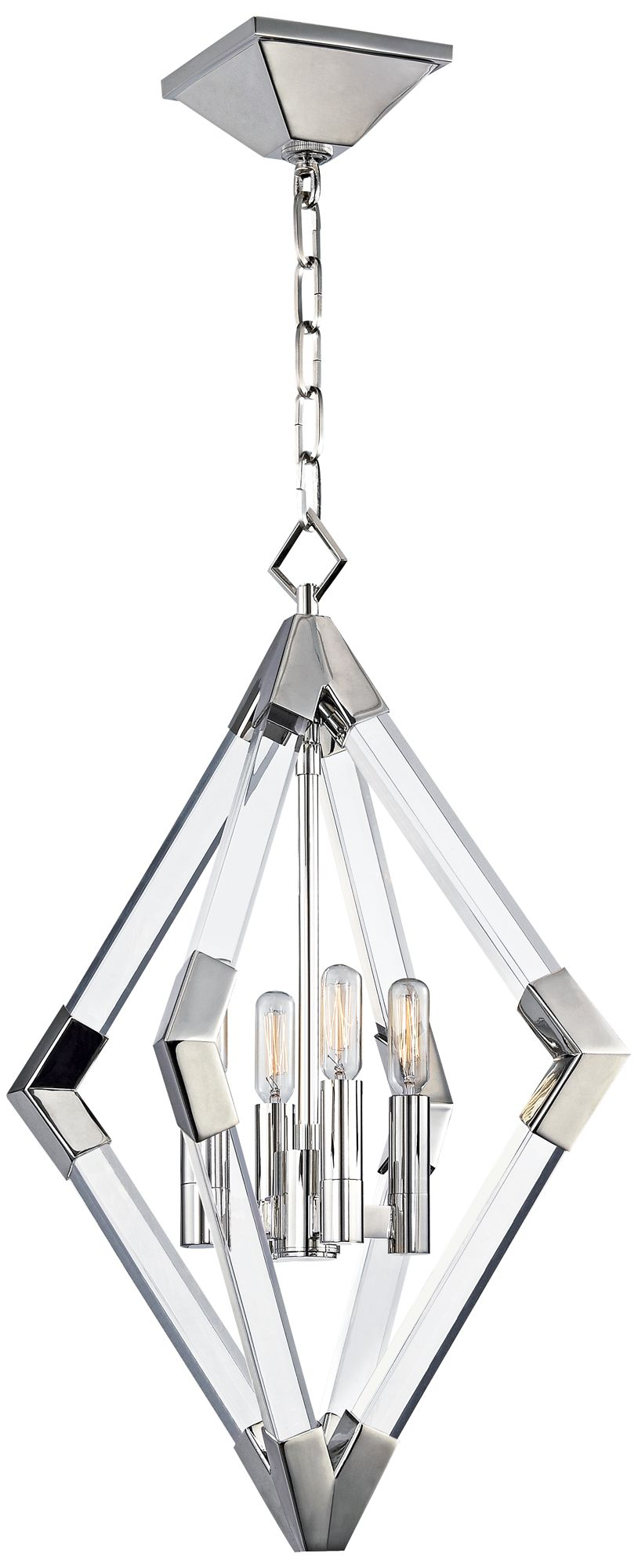 Hudson Valley Lyons 17 1/4 W Polished Nickel Pendant Light  sc 1 st  L&s Plus & Hudson Valley Lyons 17 1/4